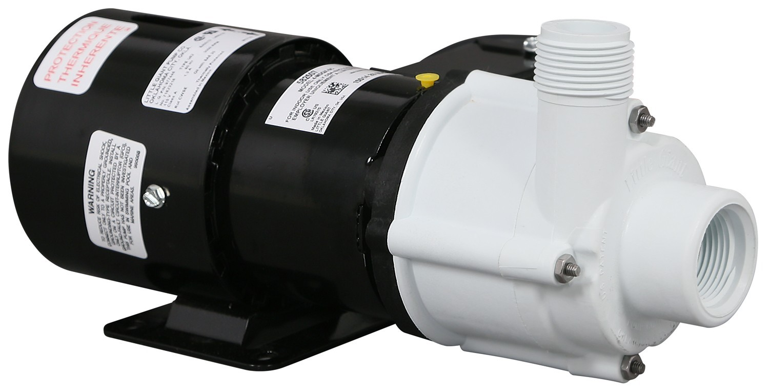 Little giant magnetic drive external inline pump 1325 gph for Inline hydroponic pump