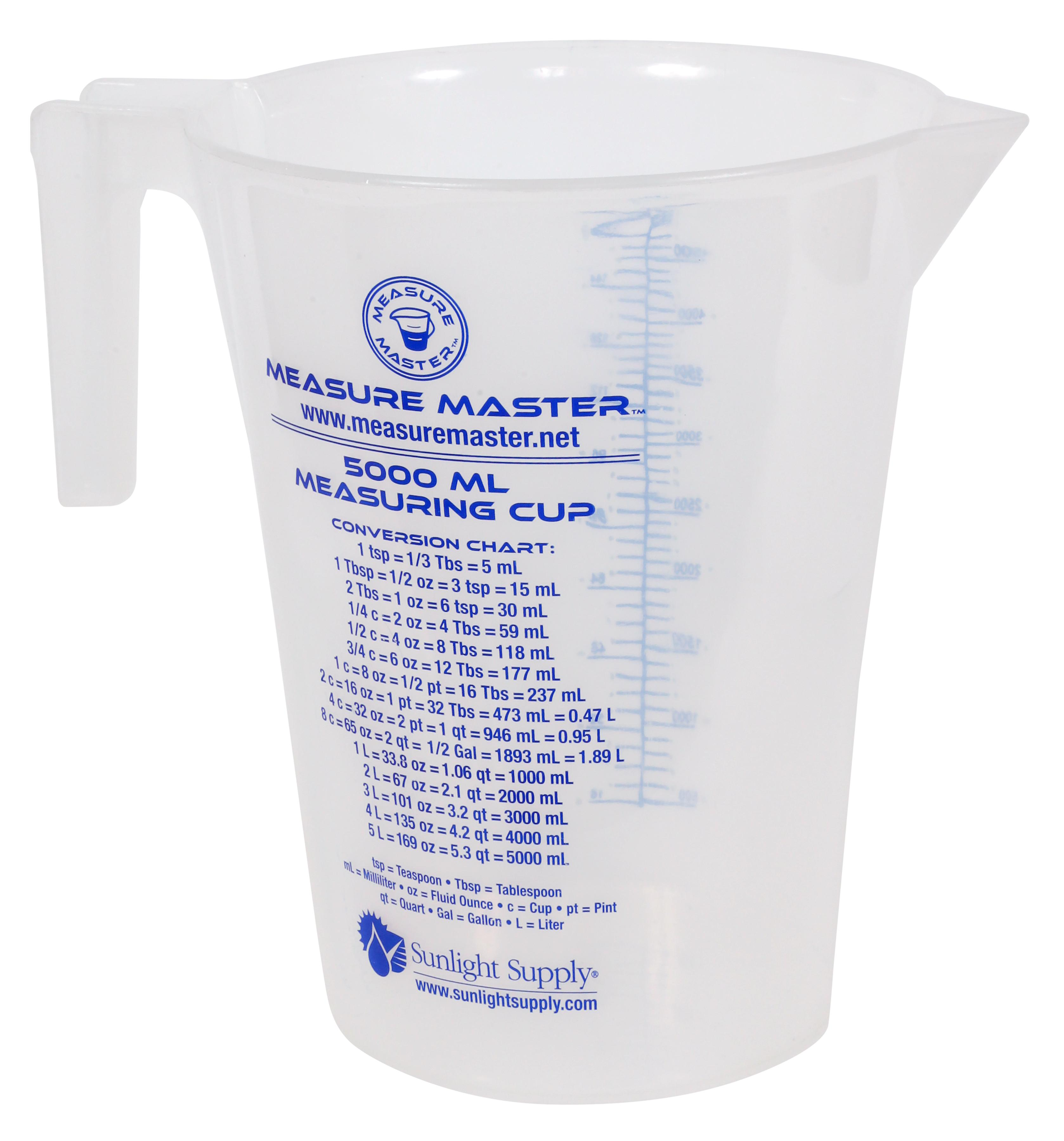 Measure master graduated container 160 oz 5000 ml measure master graduated container 160 oz 5000 ml image 1 nvjuhfo Images