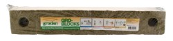 Grodan Delta 8 Gro-Blocks 4x4x3 With Hole, Strip of 6