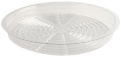 "Gro Pro 9"" Clear Saucer pack of 50"