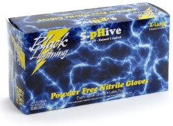 Black Lightning Gloves, Small, Case of 1000