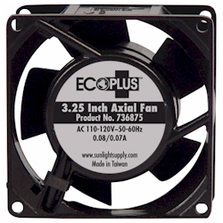 "EcoPlus 3.25"" Axial Fan  with cord 25 CFM"