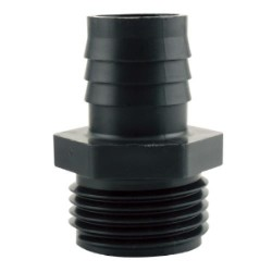 "Hydro Flow Garden Hose Thread Adapter to 3/4"" Barbed case of 100"