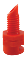 Hydro Flow Single Piece Spray Heads 90 Degree Red/orange case of 250