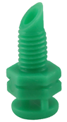 Hydro Flow Single Piece Spray Heads 360 Degree Green case of 250