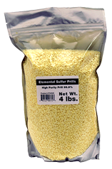 Elemental Sulfur High Purity Prills 4 Lb