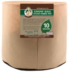 Gro Pro Tan Round Fabric Pot #10