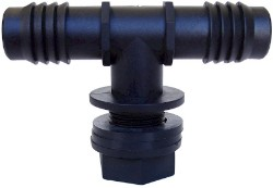 Hydro Flow Tub Outlet Tee Fitting 3/4 in