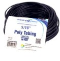 "Black Poly Tubing 3/16"" ID 1/4"" OD 50 Feet"