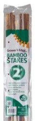 Grower's Edge Natural Bamboo 2 ft 25/Pack