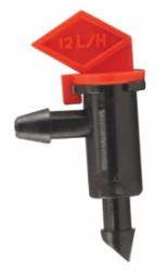 Hydro Flow Push-In Flag Emitter Red 3 GPH pack of 10