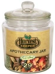 Harvest Keeper Glass Storage Jar w/ Sealed Lid - 29 oz pack of 24