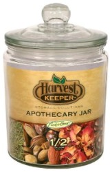 Harvest Keeper Glass Storage Jar w/ Sealed Lid - 1/2 Gallon pack of 6