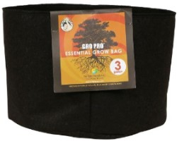 Gro Pro Essential Round Fabric Pot 3 Gallon pack of 10
