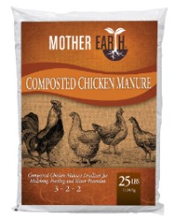 Mother Earth Composted Chicken Manure 25 lbs