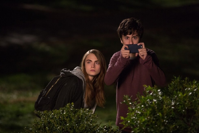 "Still of Nat Wolff and Cara Delevingne in ""Paper Towns."" (Michael Tackett/Twentieth Century Fox)"