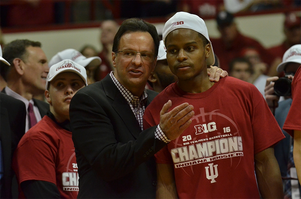 Coach Tom Crean moderates panel at Man Up to Make a Difference event