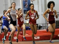 Taylor Williams, No. 6, competes in the women's 600-meter run Jan. 23 at Gladstein Fieldhouse. She finished the race in first place.