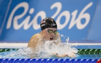 IU sophomore Lilly King competes in the semifinals of the 200m Breaststroke at the 2016 Olympics in Rio de Janeiro, Brazil, on Aug. 10, 2016. King won four gold medals at the World Championships this past weekend.