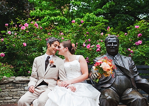 Local wedding photographer uses campus as backdrop for Student wedding photographer