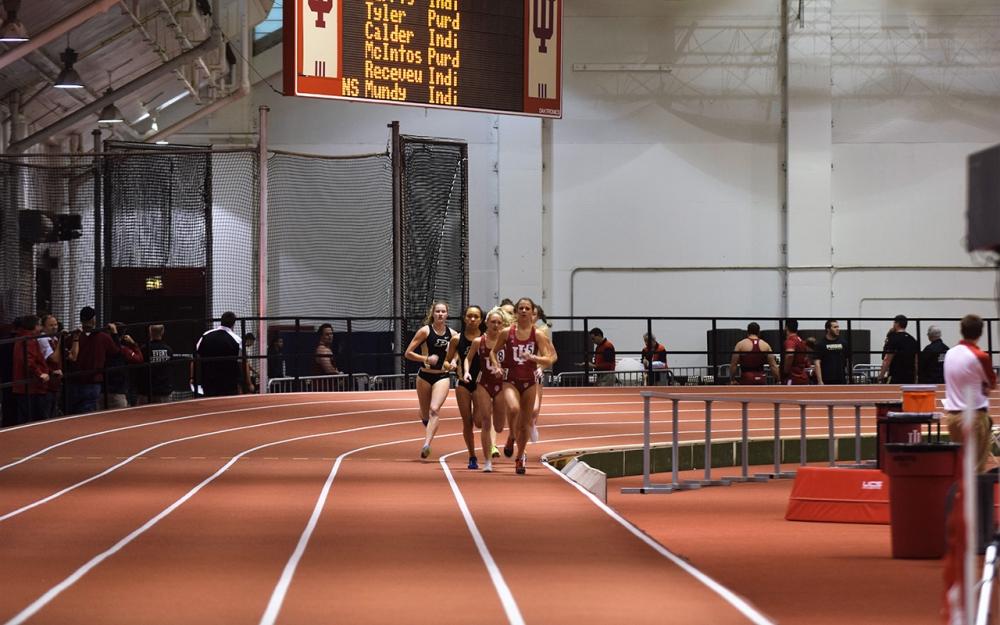 Women's track and field picks up Big Ten rivalry win