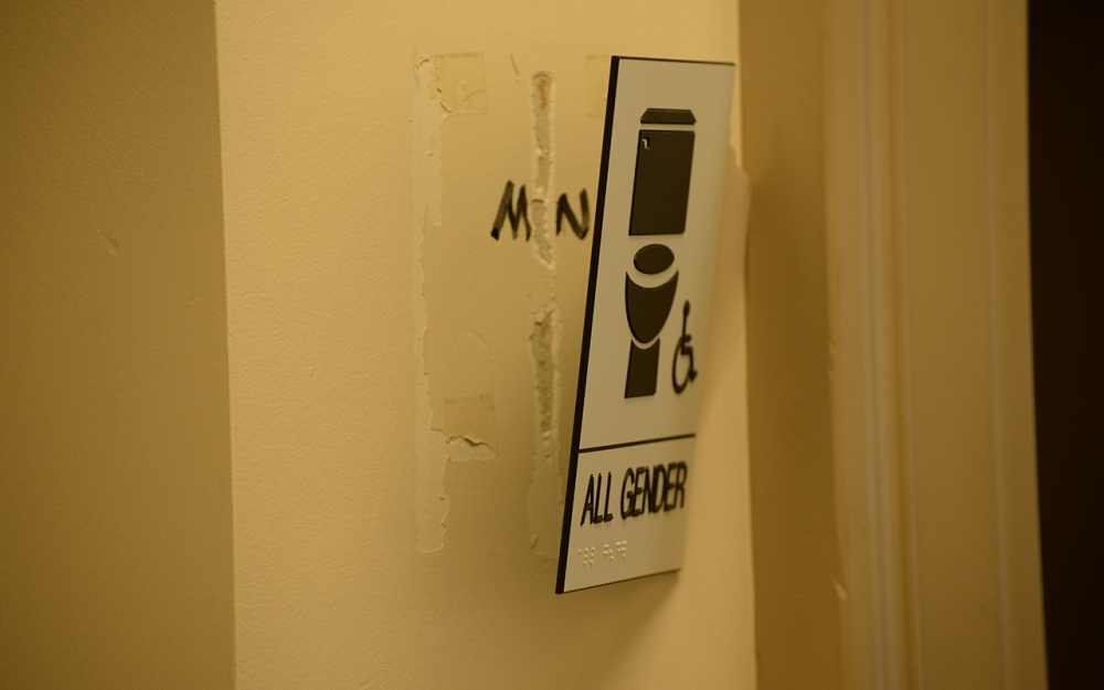 Bathroom Sign Damage Classified As Hate Crime Indiana Daily Student