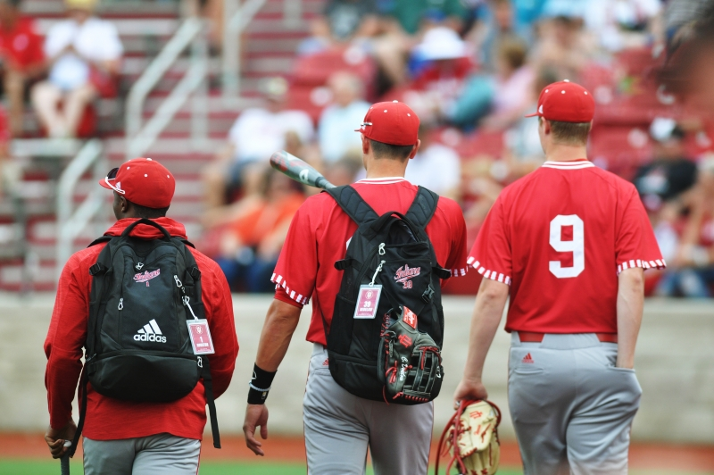 The Hoosiers arrive at Bart Kaufman Field for their Big Ten Tournament game against Minnesota on May 26, 2017. IU lost to Kentucky in the NCAA Regional on Sunday, eliminating them from the NCAA tournament and ending their 2017 season.