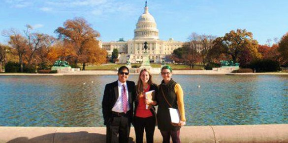 Loyola Chicago University students at the Ignatian Family Teach-In for Justice advocacy day