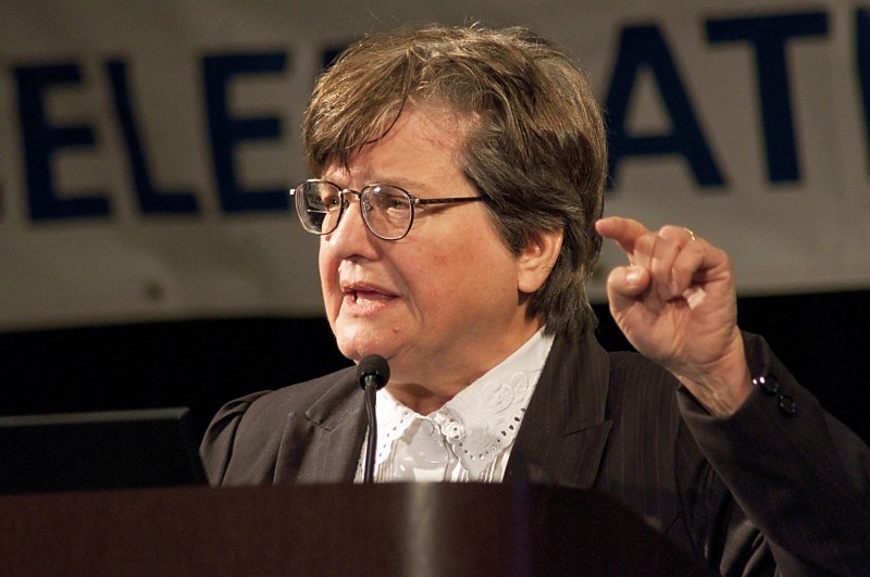 Sister Helen Prejean, C.S.J., speaking at the Ignatian Family Teach-In for Justice in 2010 in Washington, D.C.