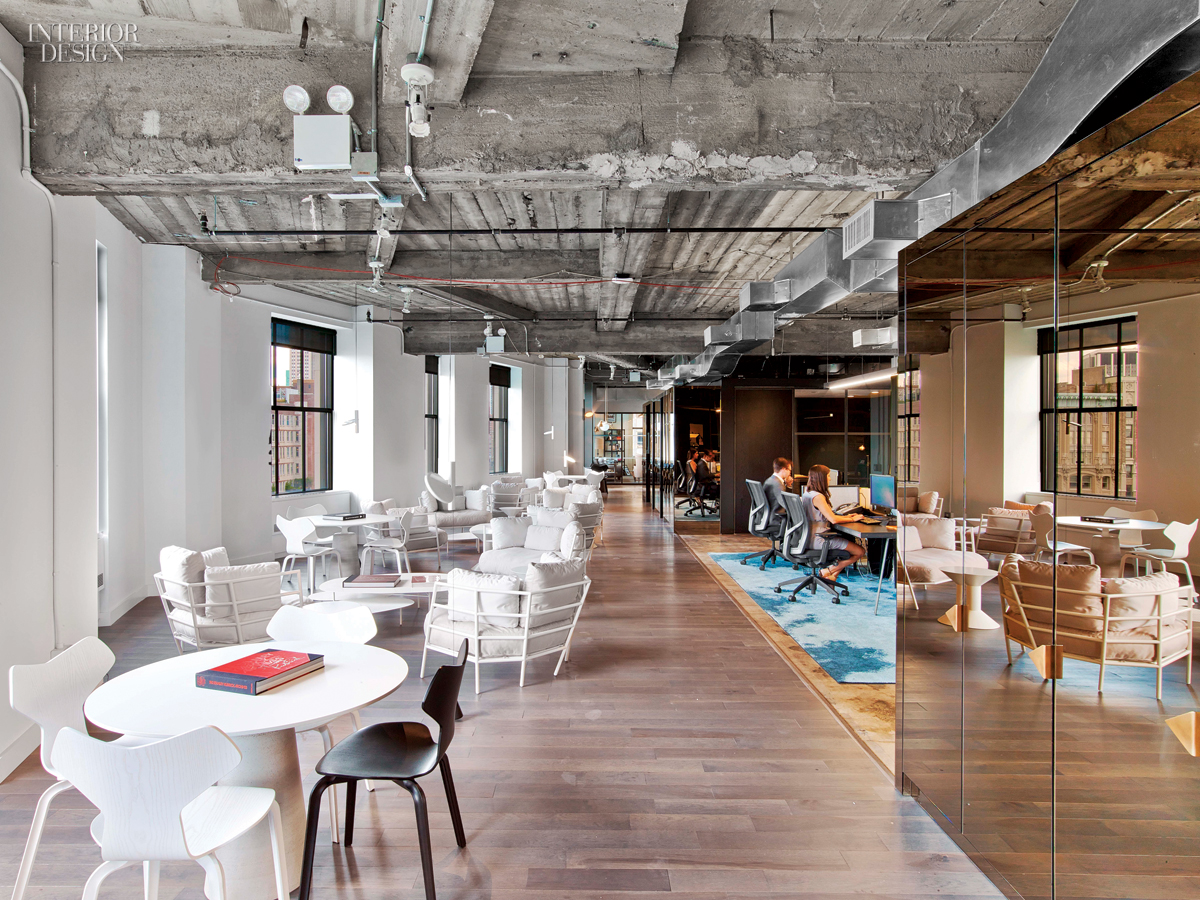 Wme img 39 s office by the rockwell group lets talent shine for Interior design group