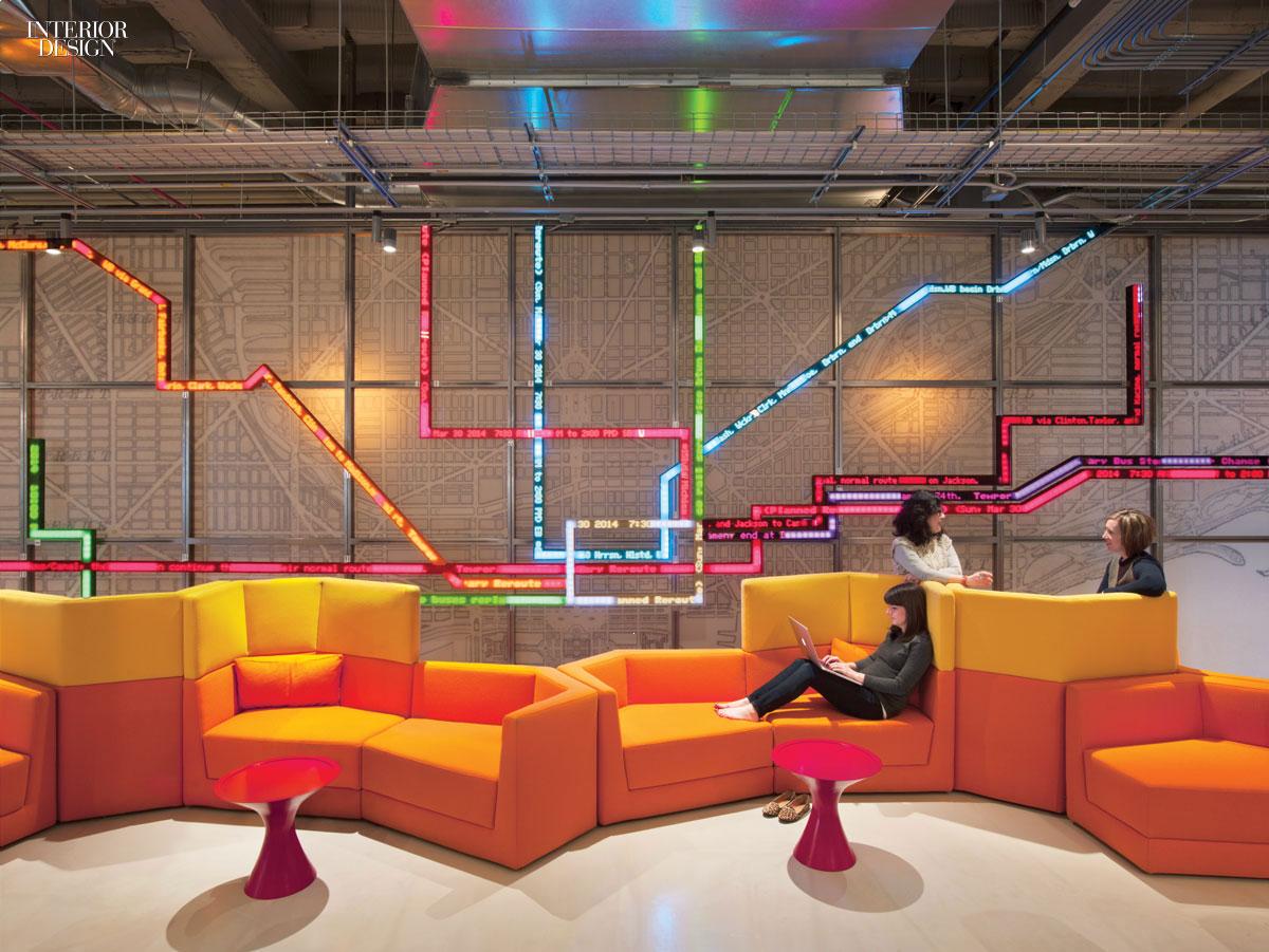 Making connections gensler delivers open office for motorola for Design inside chicago