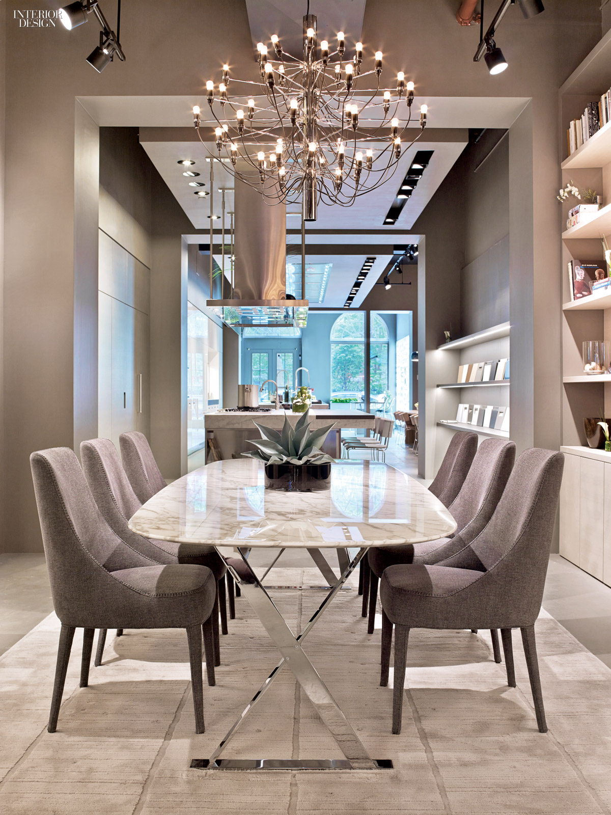 A taste of italy arclinea 39 s new york flagship for Beautiful modern dining rooms