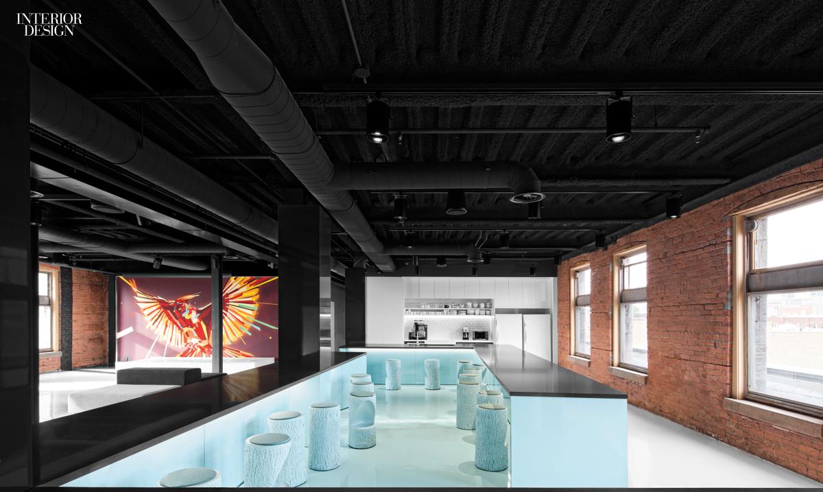 Lightspeed 2015 boy winner for midsize tech office for Interior design agency montreal