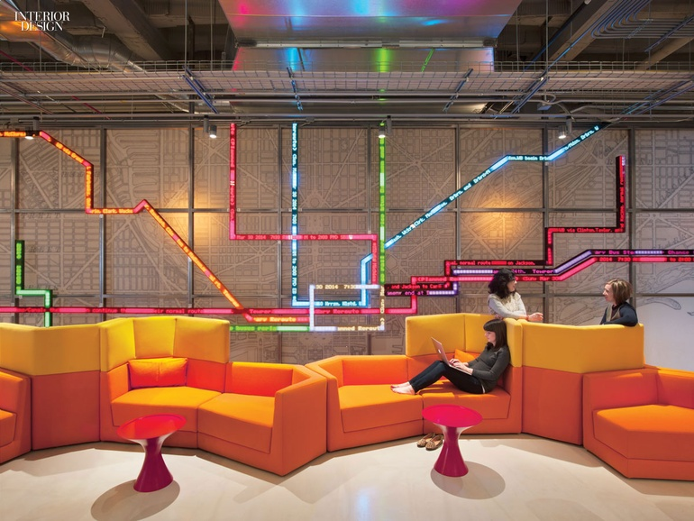 Making connections gensler delivers open office for motorola for Office interior projects