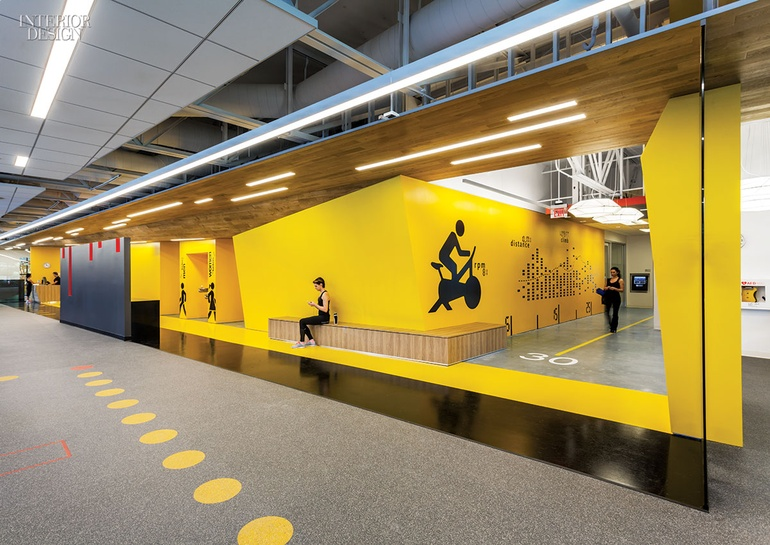 Gensler san jose s fitness center for symantec for Gym design software