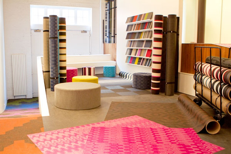 Bolon s new digs showroom or living room for Showroom living room ideas