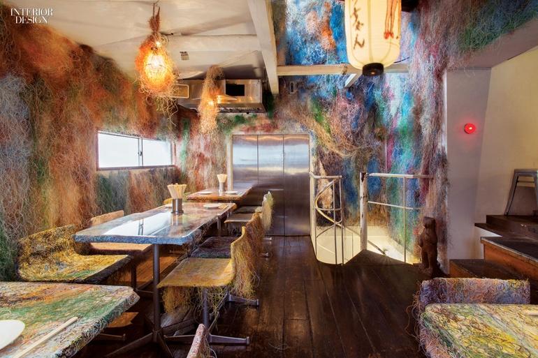 Funky chicken kengo kuma reimagines tetchan restaurant