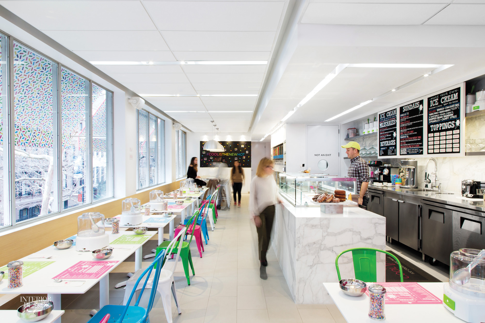 Gensler new york whips up playful space for coolmess for Commercial interior design nyc