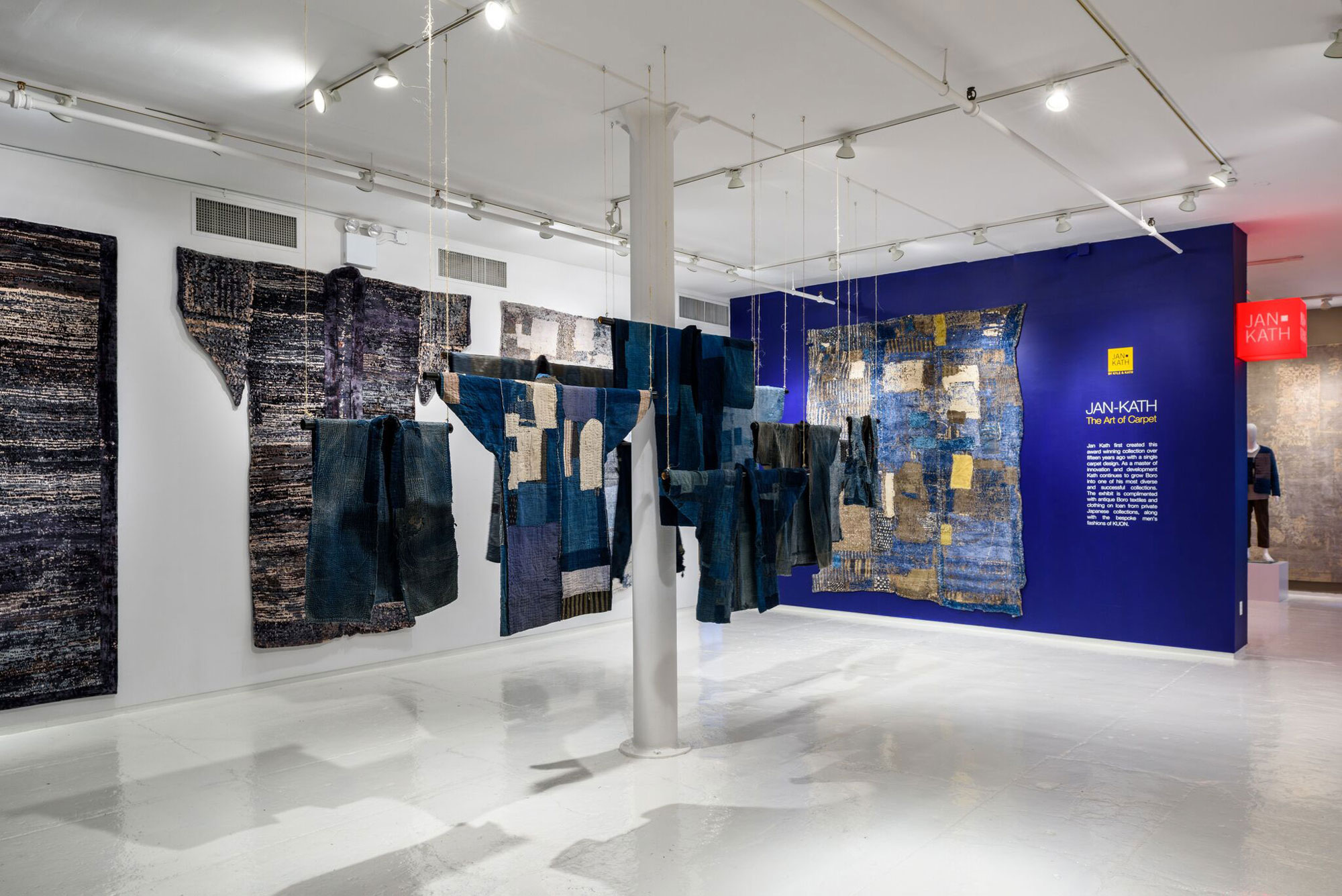 Jan Kath Design jan kath exhibits rug collection inspired by japanese boro textiles