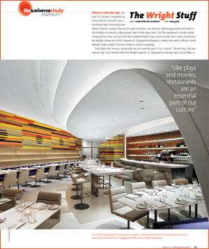 The Wright Stuff Andre Kikoski Designs The Restaurant At