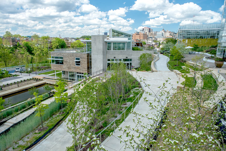 The center for sustainable landscapes at pittsburgh s for Sustainable landscape design