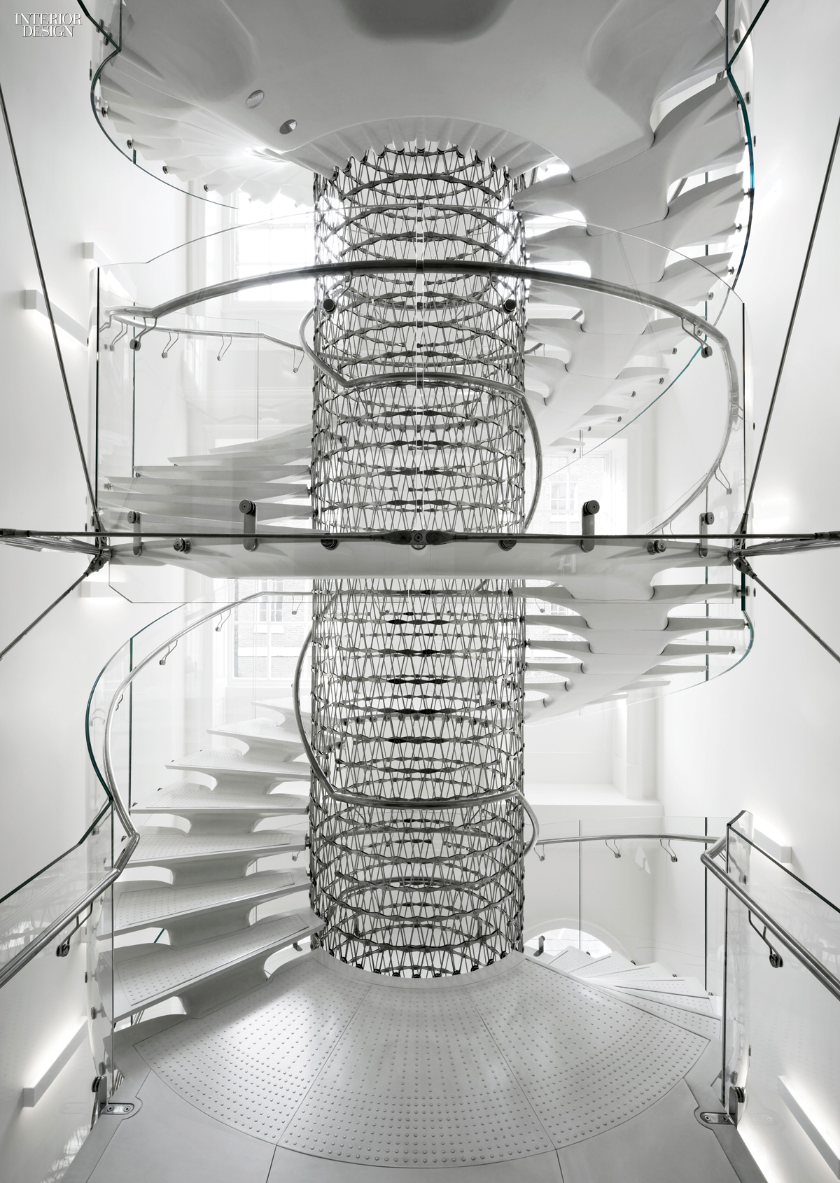 Eva jiricna 39 s uhpc stairs for london 39 s somerset house for Spiral staircase blueprint