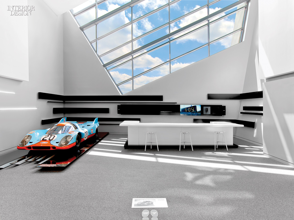 sculpture in motion porsche experience center by hok. Black Bedroom Furniture Sets. Home Design Ideas