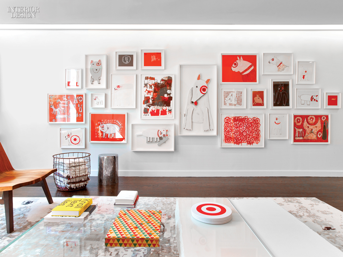 Rottet studio hits the bull 39 s eye with target 39 s pr and for Interior wall design for office
