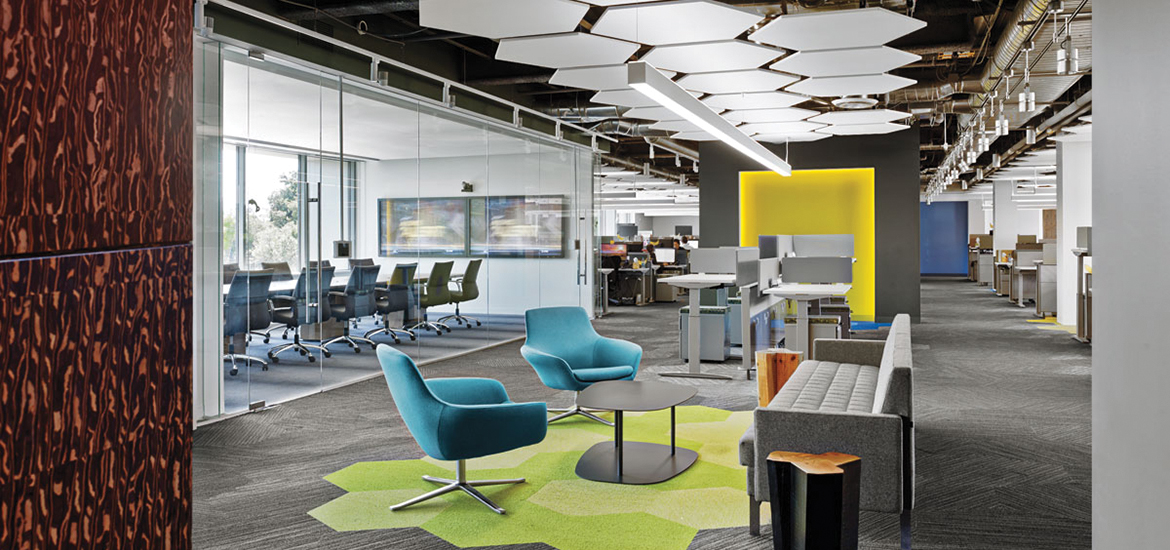 4 tech and finance companies rock out at the office - Business name for interior design company ...