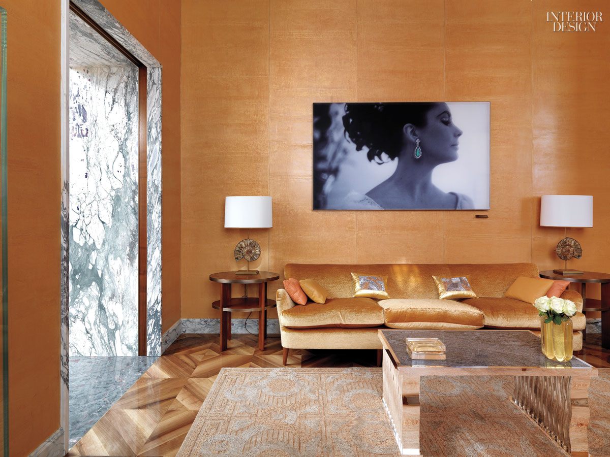 Peter marino burnishes the bulgari legend in london for Vip room interior design