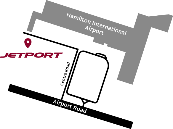 Map to Jetport Hanger