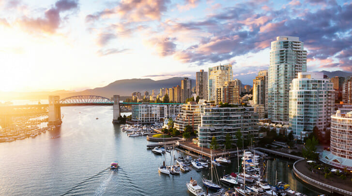 City view of Vancouver