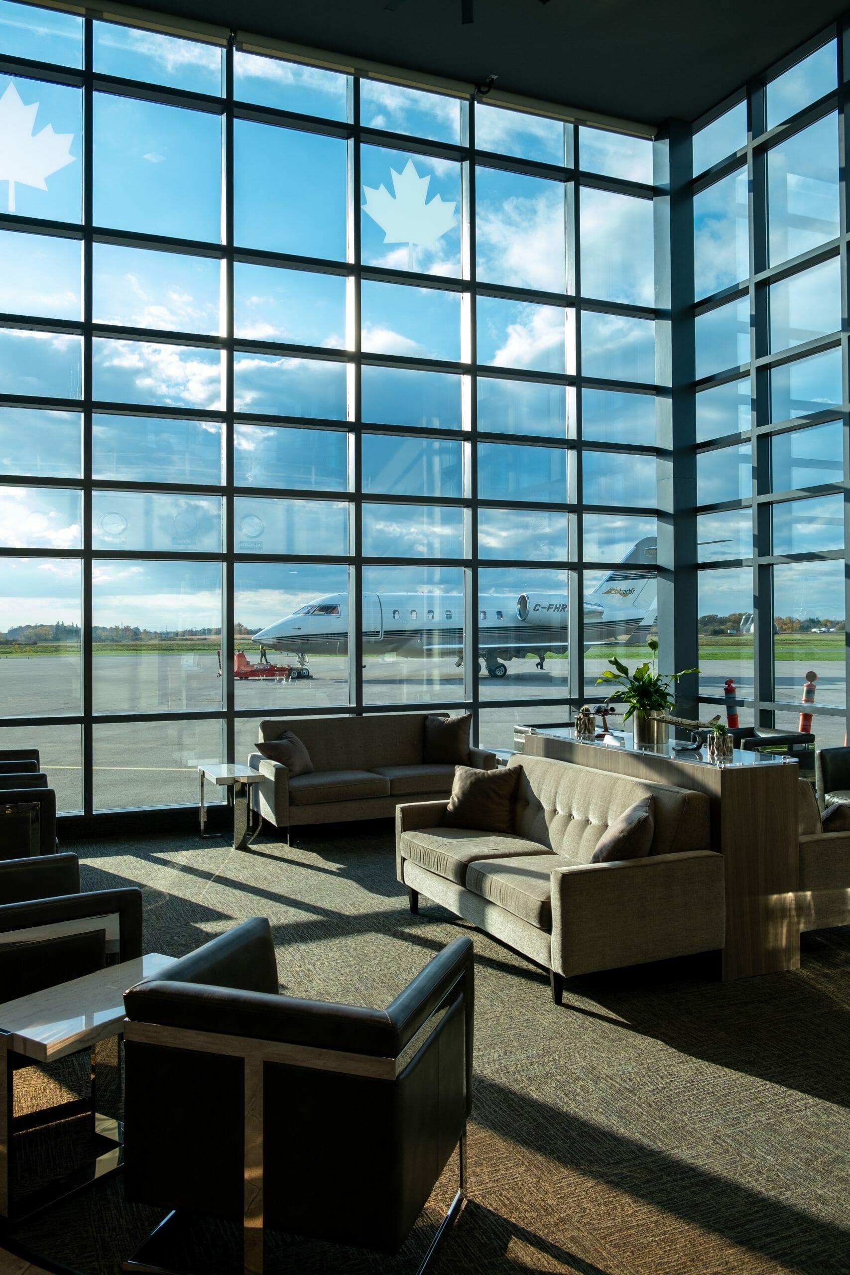 Inside the Jetport Passenger area.