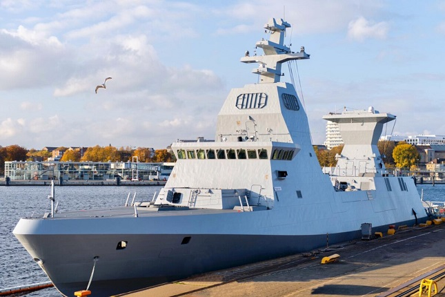 Israel's new Sa'ar 6 corvette, the INS Magen, was built by ThyssenKrupp Marine Systems in Germany. (Courtesy of the Israel Defense Forces